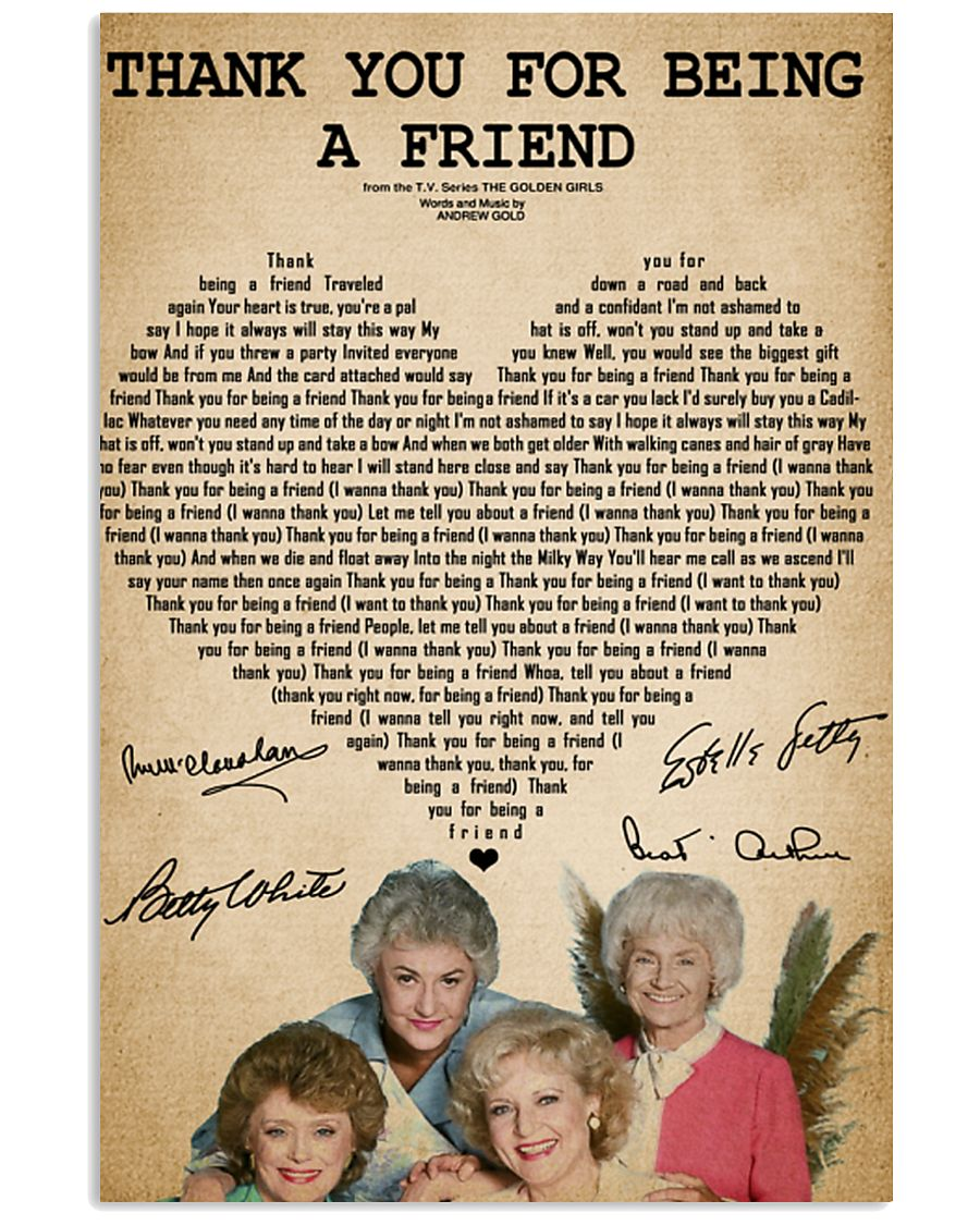 the golden girls thank you for being a friend post 11x17 poster size white