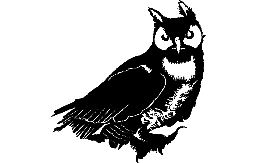 Owl Vector Dxf File Free Download 3axis Co