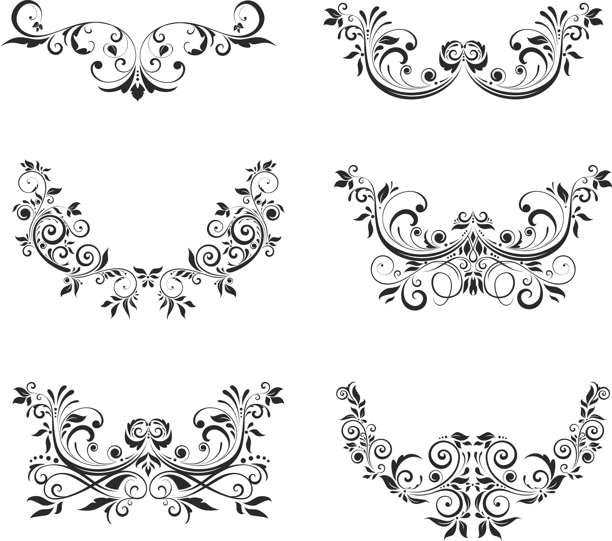 Floral Elements Free Vector Cdr Download