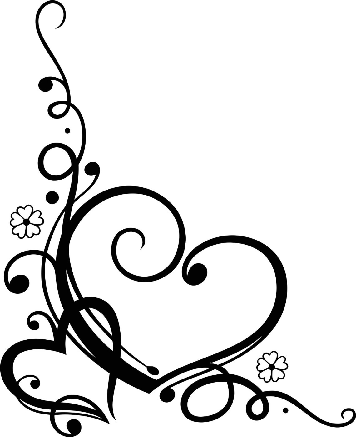 Download Love Heart Floral Swirl Vector Free Vector cdr Download ...