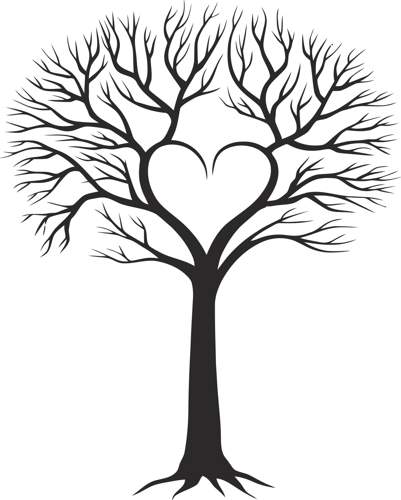 Family Tree With Heart Free Vector Cdr Download