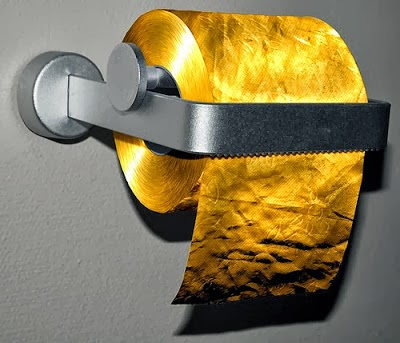 toilet paper made of gold