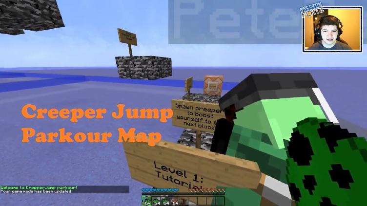 Download Creeper Jump Parkour Map