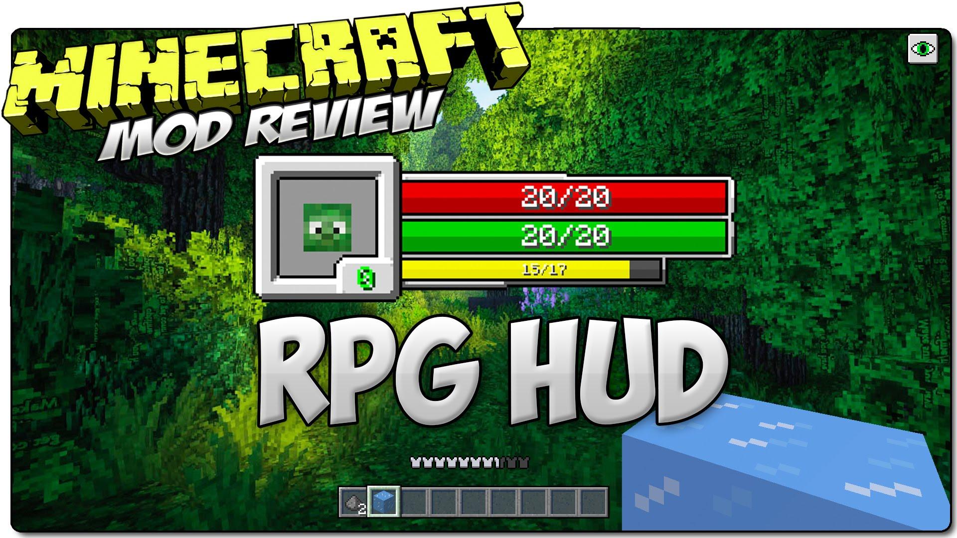 RPG-Hud Mod 1.16.3|1.15.2|1.12.2