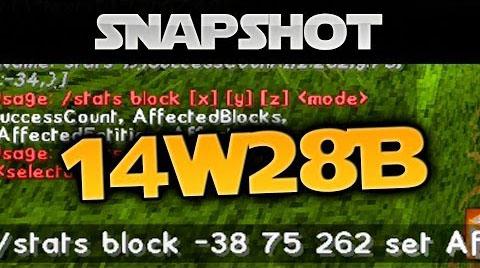 Minecraft Snapshot 14w28b