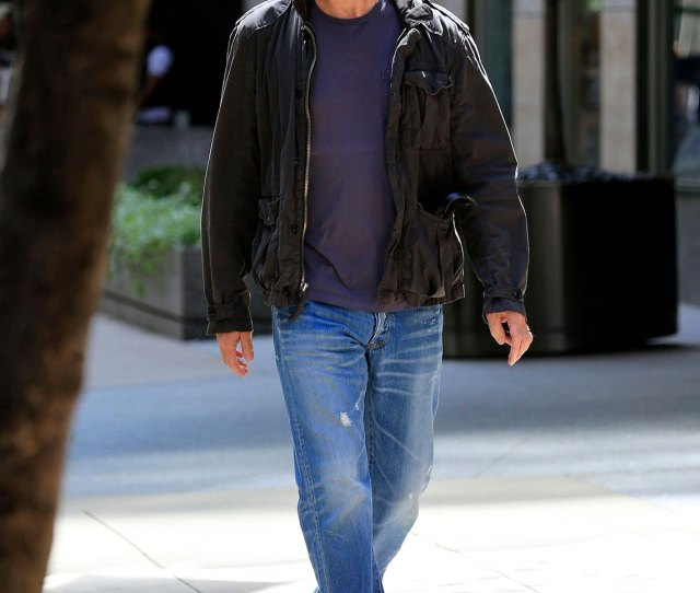 Item  Gallery Image Bruce Willis In Distressed Jeans With Sneakers And Tees And