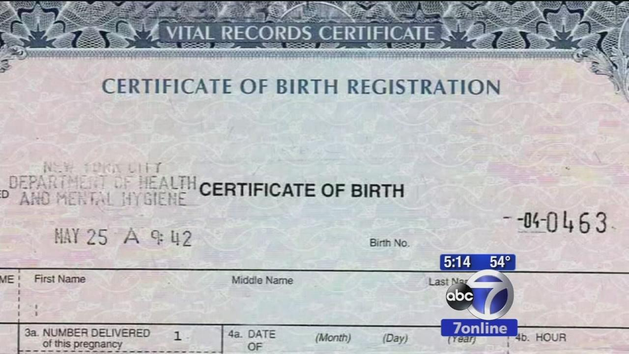 Birth Certificate From New Jersey