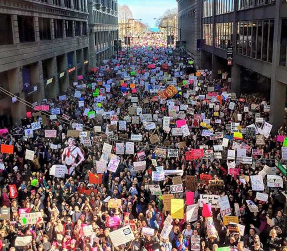 Image result for women's march chicago 2017