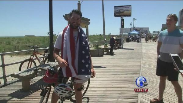 Philadelphia police officer ends cross-country bike ride ...