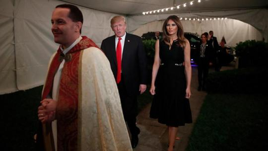 Image result for Watch: Donald, Melania Trump Celebrate the 'Miracle of Christmas' in Message to Americans