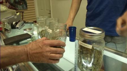 Medical marijuana is seen at a dispenary in Los Angeles in this undated file photo.