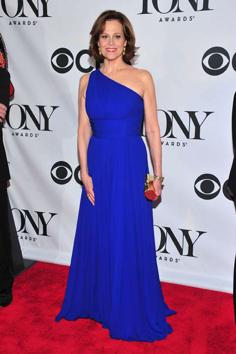 Sigourney Weaver arrives on the red carpet at the 67th Annual Tony Awards, on Sunday, June 9, 2013 in New York.