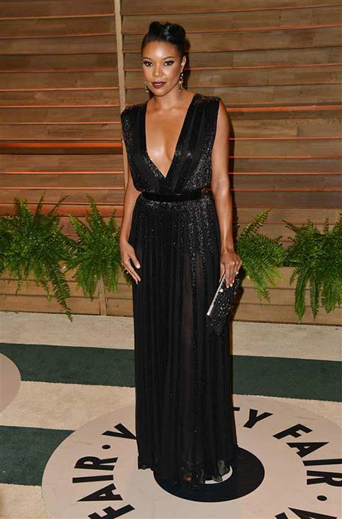 Gabrielle Union appears at the 2014 Vanity Fair Oscar party in Los Angeles, California on March 2, 2014.