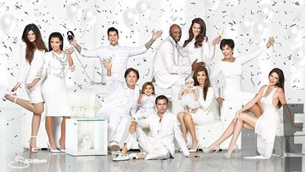 Kylie Jenner, Kim Kardashian, Rob Kardashian, Lamar Odom, Khloe Kardashian Odom, Kris Jenner, Kendall Jenner, Kourtney Kardashian, Penelope, Scott Disick, Mason and Bruce Jenner appear in the Kardashian familys 2012 Christmas card. - Provided courtesy of Nick Saglimbeni / kimkardashian.celebuzz.com