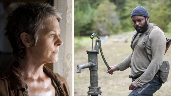 Melissa McBride appears as Carol and Chad L. Coleman appears as Tyreese in scenes from AMCs The Walking Dead, season 4, episode 14 -- The Grove -- that aired on March 16, 2014. - Provided courtesy of Gene Page / AMC