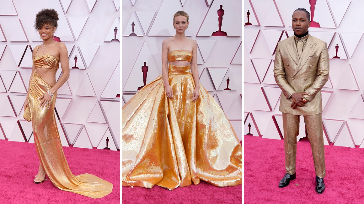 Oscars fashion 2021: Gold and glam dominate Hollywood's biggest night season