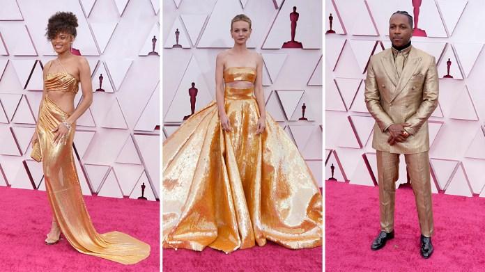 Oscars fashion 2021: Gold and glam dominate Hollywood's biggest night season