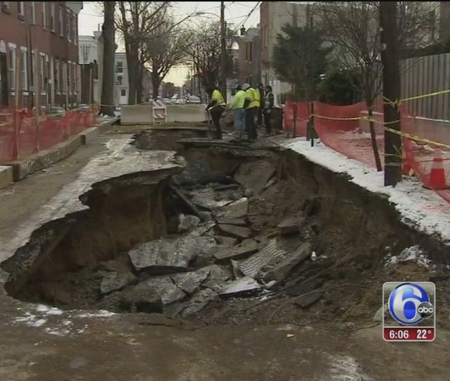 Giant Kensington Sinkhole Repair To Take Days