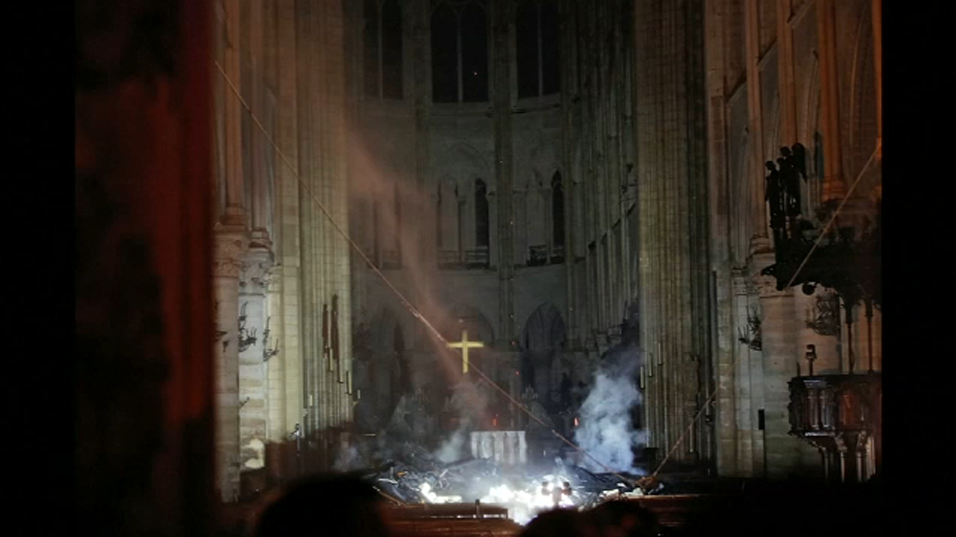 Notre Dame Cathedral Fire Cross Crown Of Thorns Survive