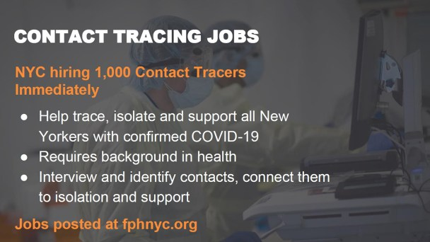 Coronavirus NYC: 1,000 contact tracers wanted in fight against ...