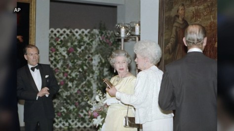 Queen Elizabeth and Prince Philip last visited Houston in 1991