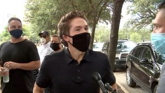 WATCH: Joel Osteen Marches With George Floyd's Family and More Than 60,000 Protesters in Downtown Houston