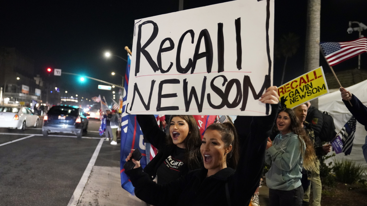 Newsom recall reaches 60 percent of goal over holiday with two months to deadline