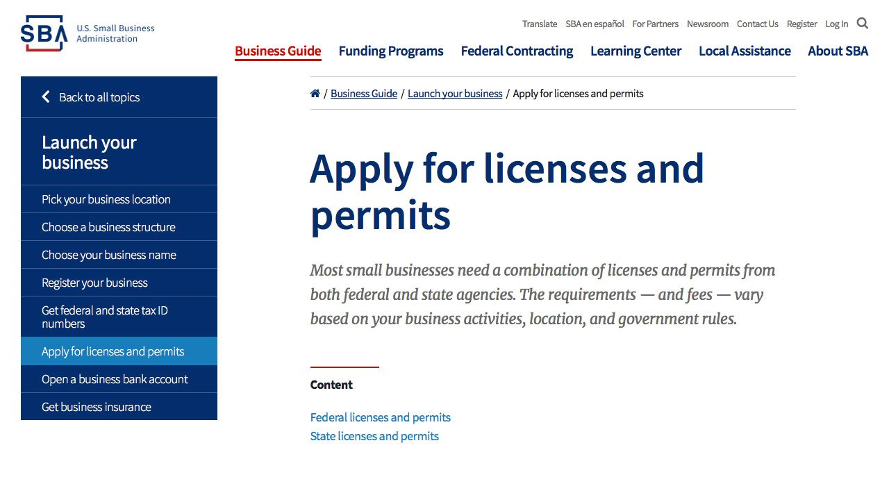 Small Business Accounting Permits