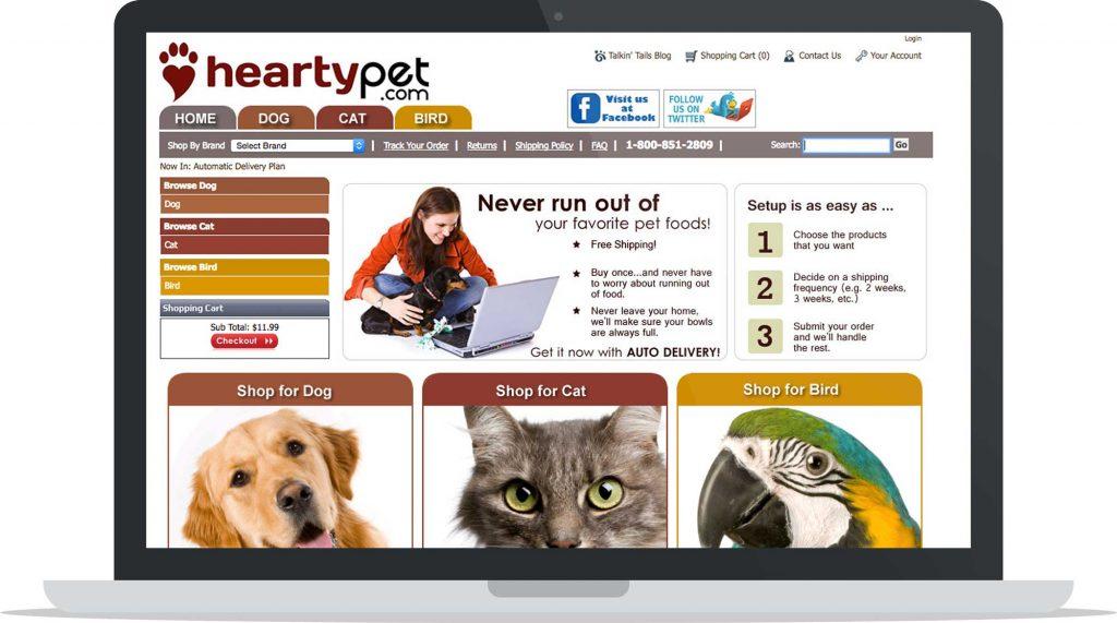 Hearty Pet CRO Brand Example