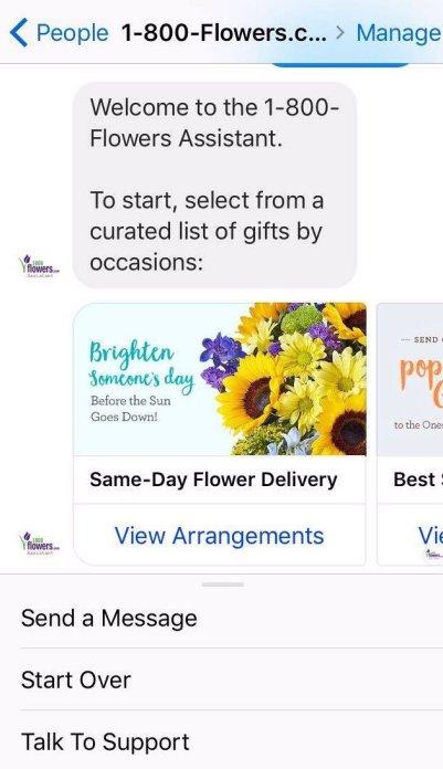 1800Flowers E-commerce Chatbot