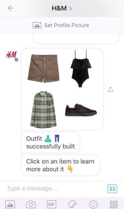 Chatbot e-commerce H&M