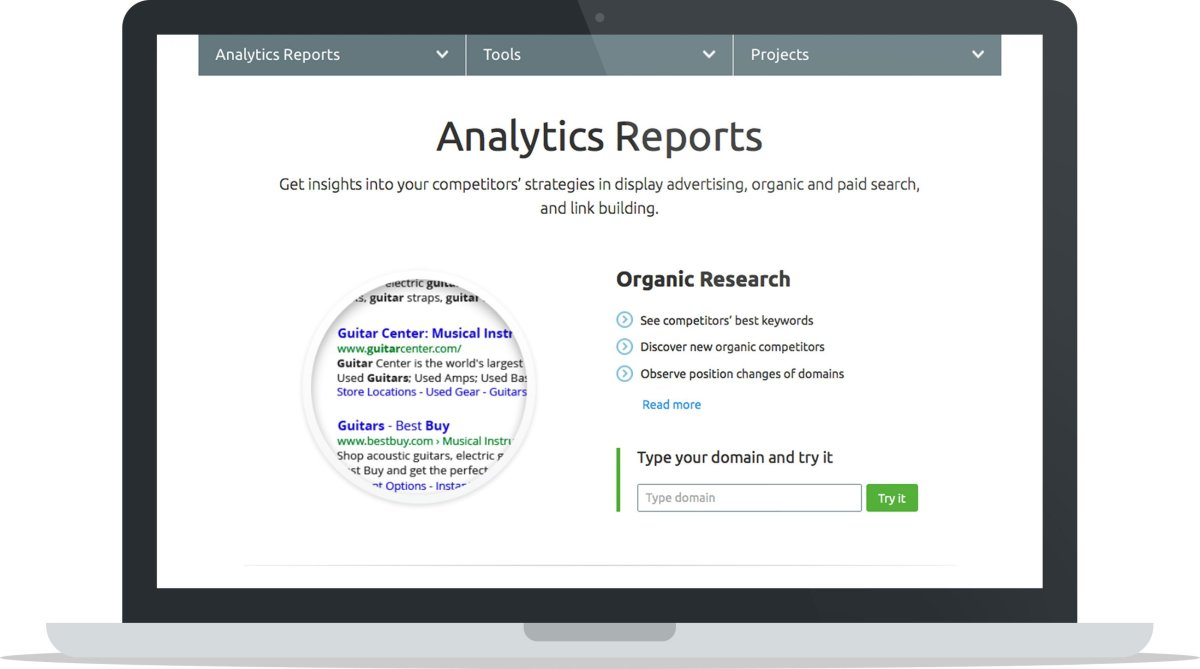 SEMrush-review: SEMrush-Analytics-Reports