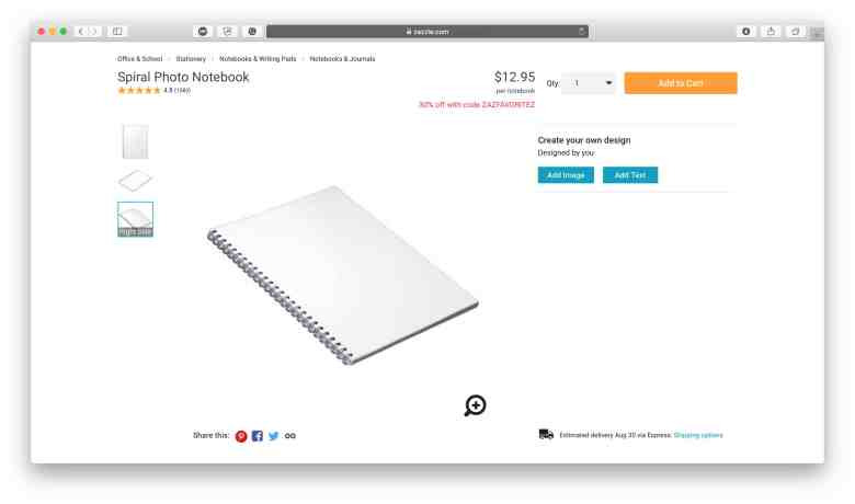 Prodotto per notebook Zazzle per aziende