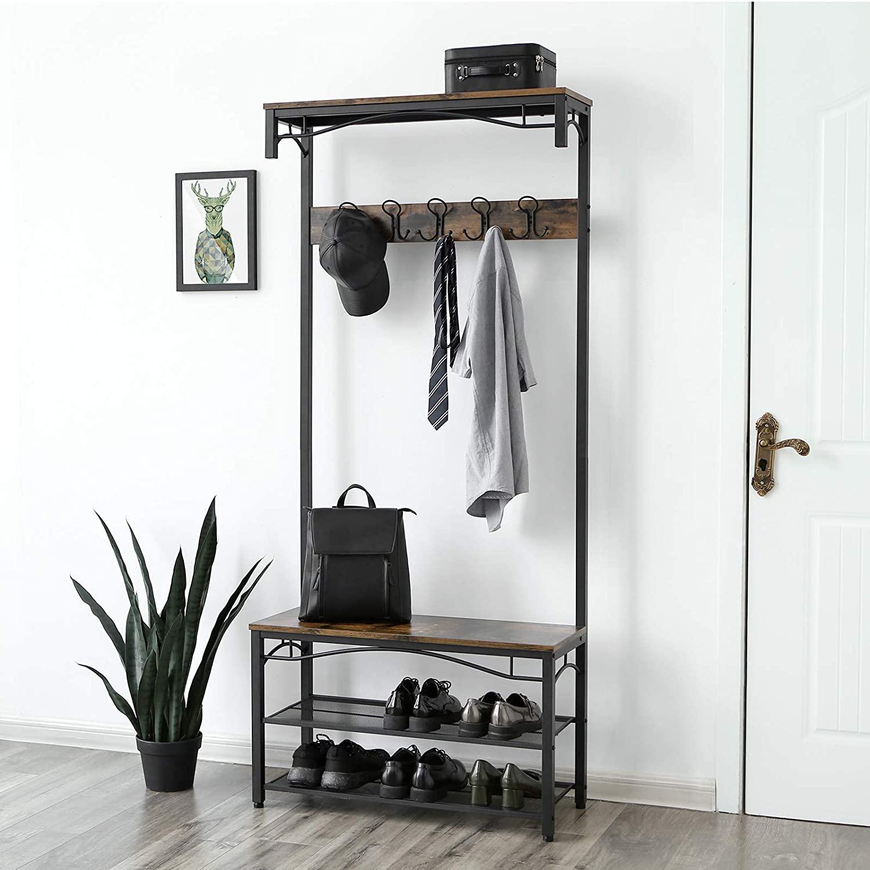 hsr45 coat rack with shoe storage bench futonota