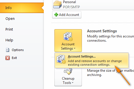 On the File tab, select twice Account Settings.