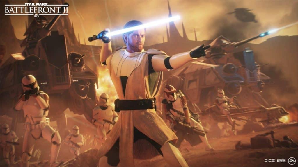 Star Wars Battlefront 2 Obi-Wan and Clones