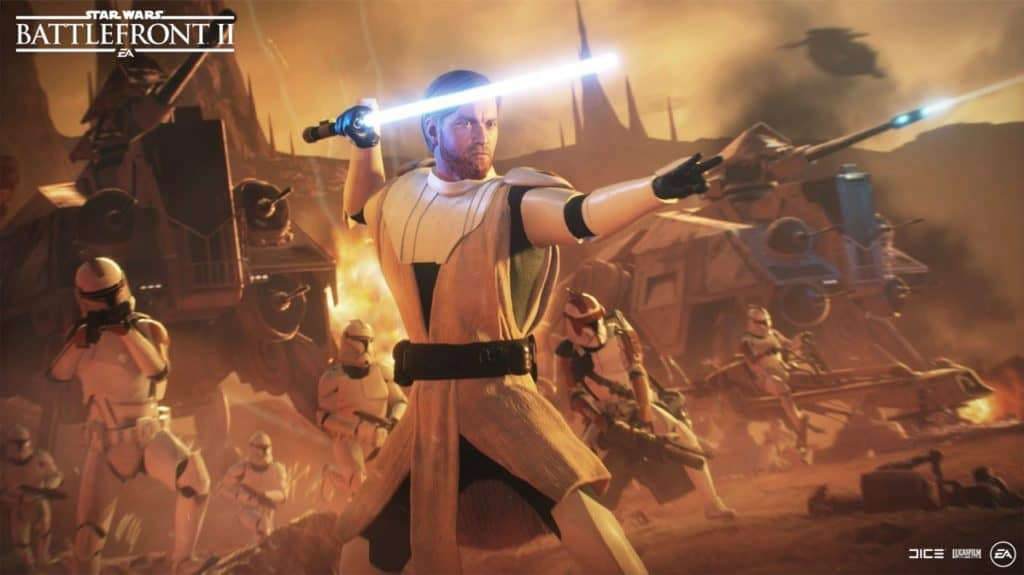 Star Wars Battlefront 2 Obi-Wan and Clones