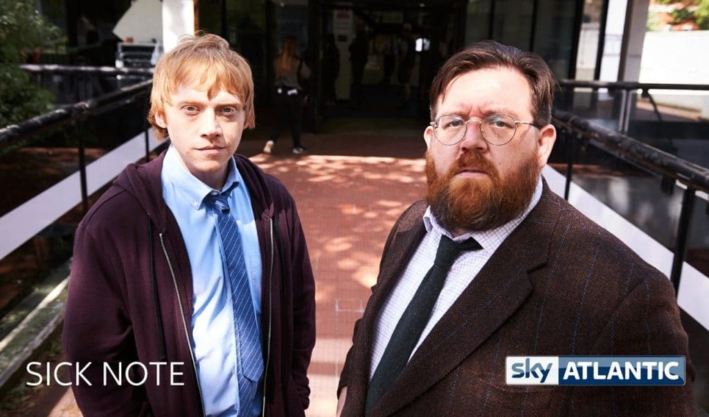 Sick Note Rupert Grint and Nick Frost