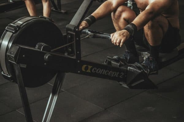 Rowing is a great exercise for getting six-pack abs.