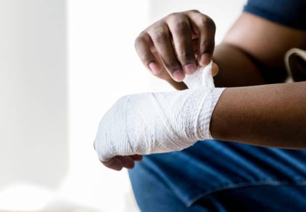Wrapping your hands can help protect them from injury.
