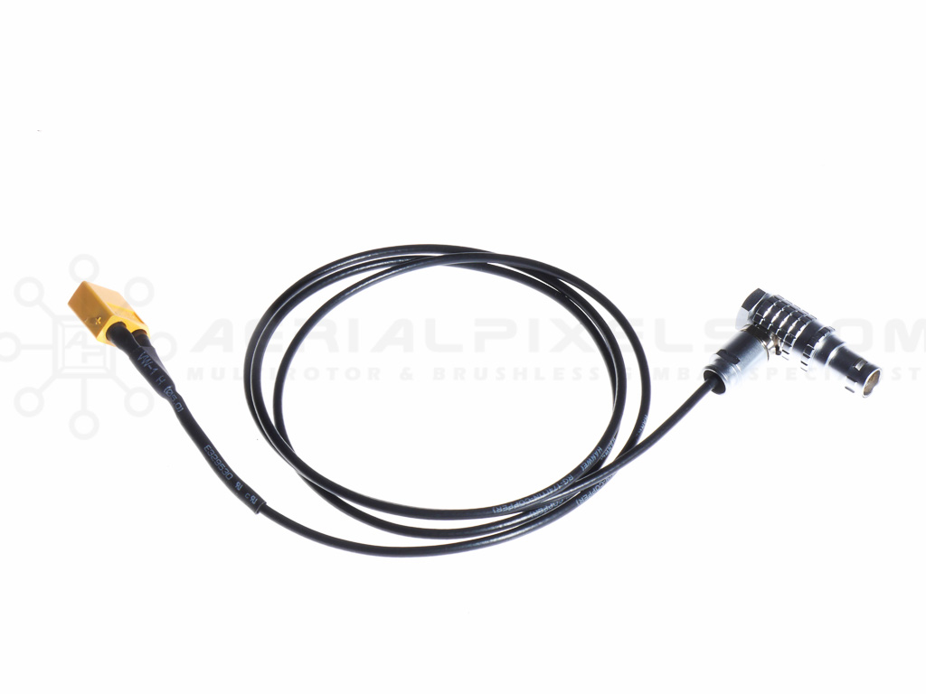 Right Angle Super Thin Red Epic Power Cable