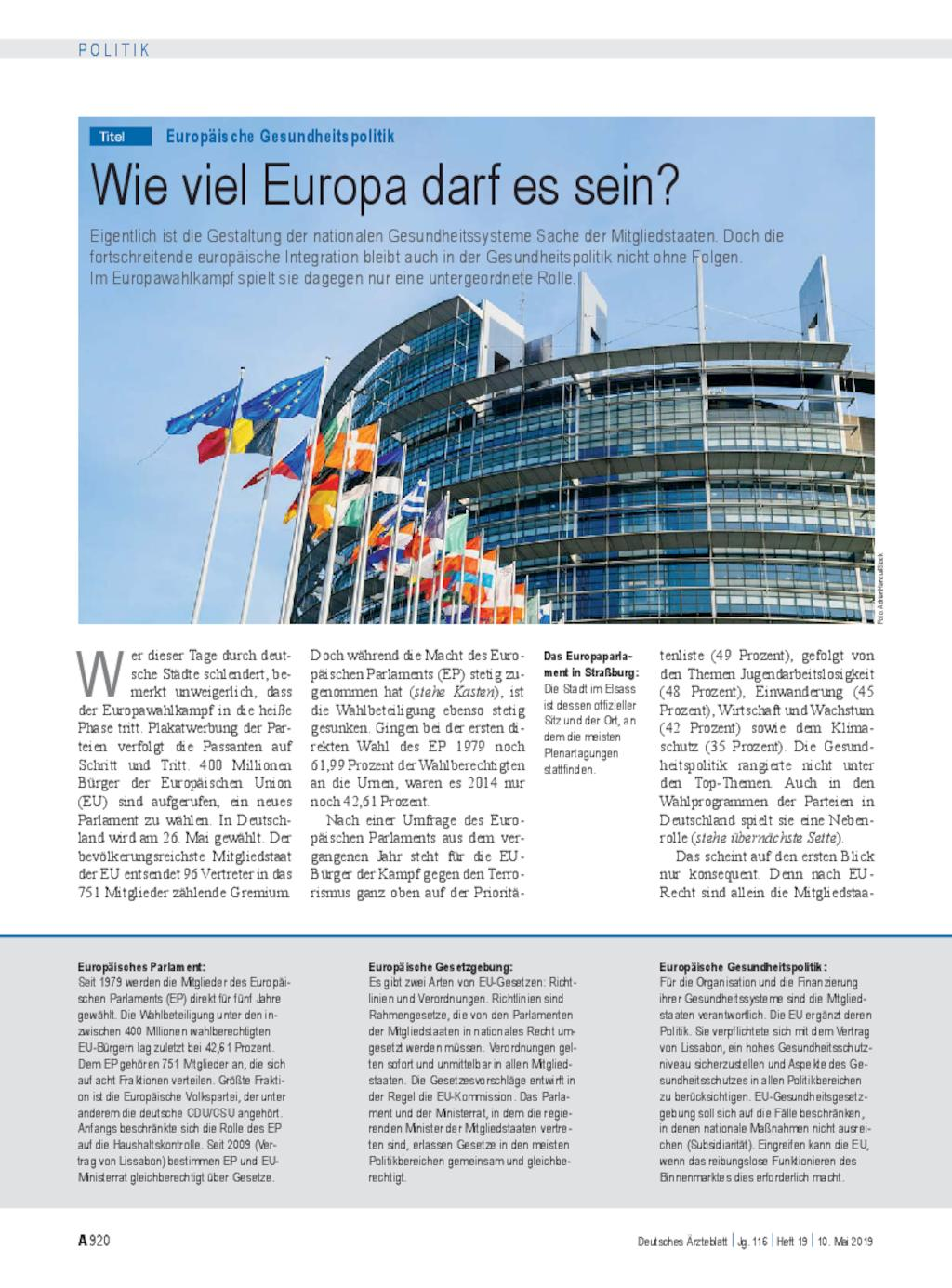 europaische gesundheitspolitik wie