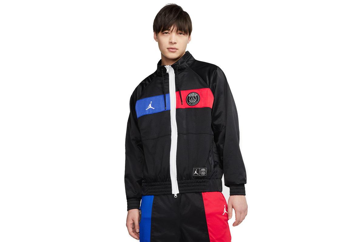 air jordan x psg jacket black