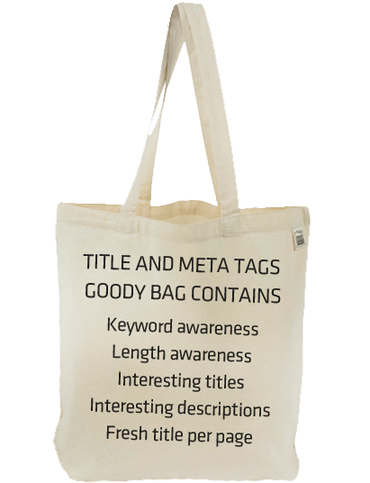 Title Tag & Meta Description Goody Bag