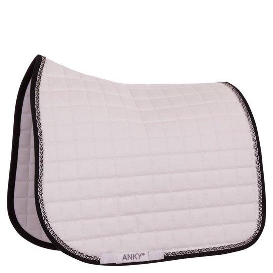 anky tapis de selle braided c wear dressage blanc noir