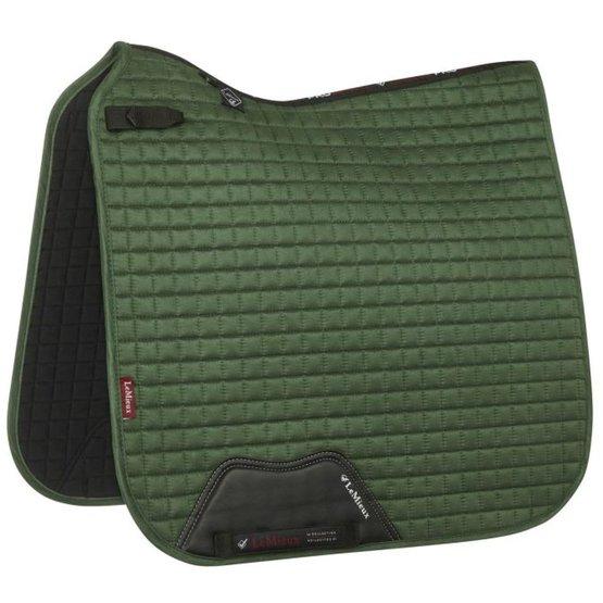 lemieux tapis de selle luxury square dressage hunter green