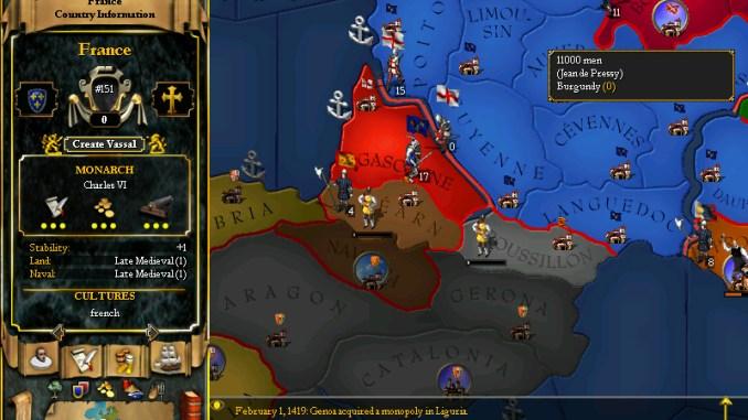 For The Glory: A Europa Universalis Game screenshot 3