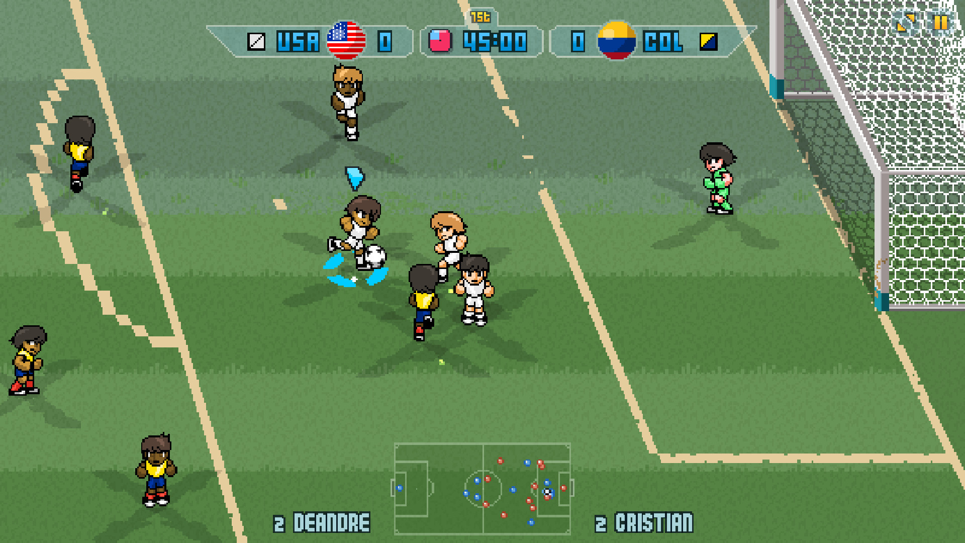 preview pixel cup soccer pc games n news you can also play friendly matches do some challenges penalty kicks or just practice and train your skills