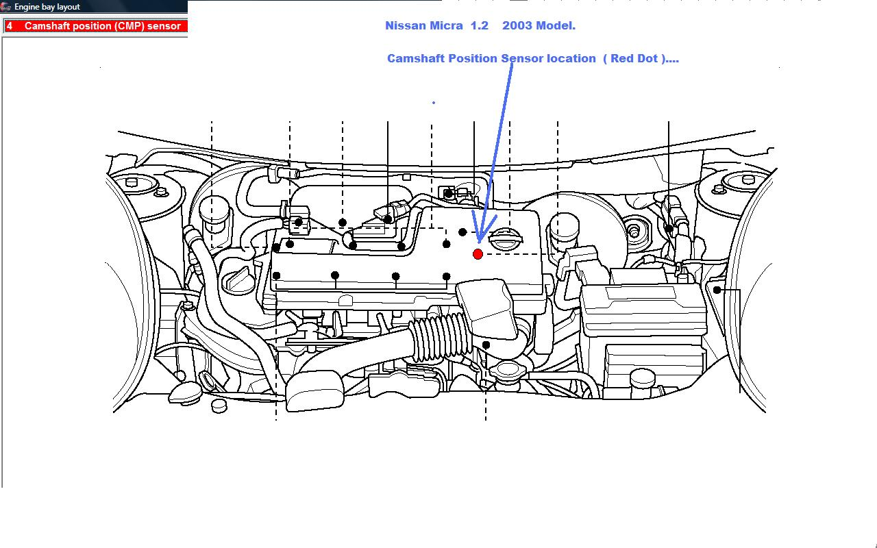 Where Is The Camshaft Sensor For A Nissan Micra Located