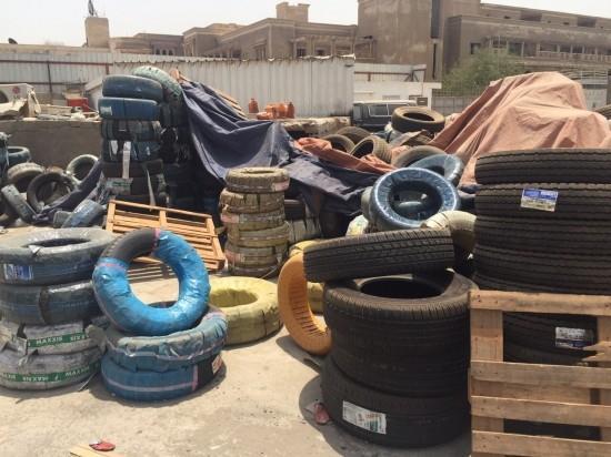 لجنة الإطارات تغلق 21 محلاً وتصادر وتتلف أكثر من 5000 إطار